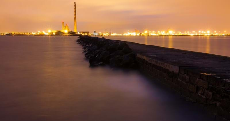 Dublin Bay at night